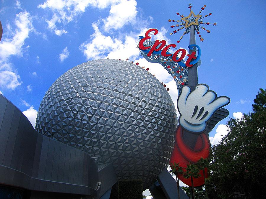 Mickey Wand on Spaceship Earth
