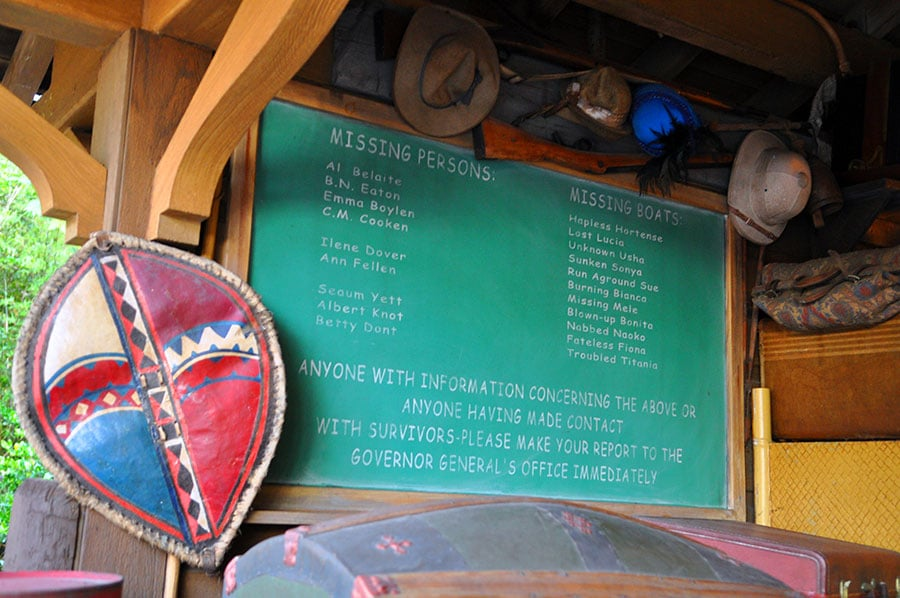Jungle Cruise Missing Persons